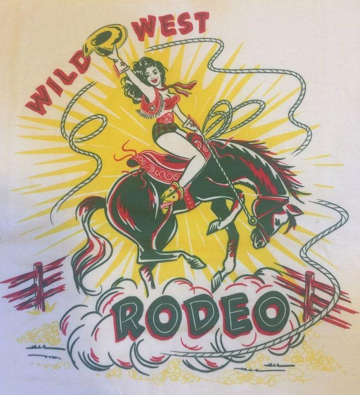 Wild West Rodeo Ladies Tshirt