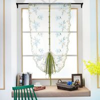 Roman Curtains Tulle Pastoral Floral Peach BlossomVoile Panel For the Kitchen Window Curtains Living Room Bedroom Tulle P20
