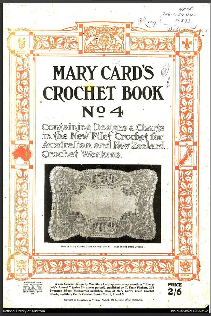 Mary Card's Crochet Book Number 4 (1927) From The National Library Of  Australia