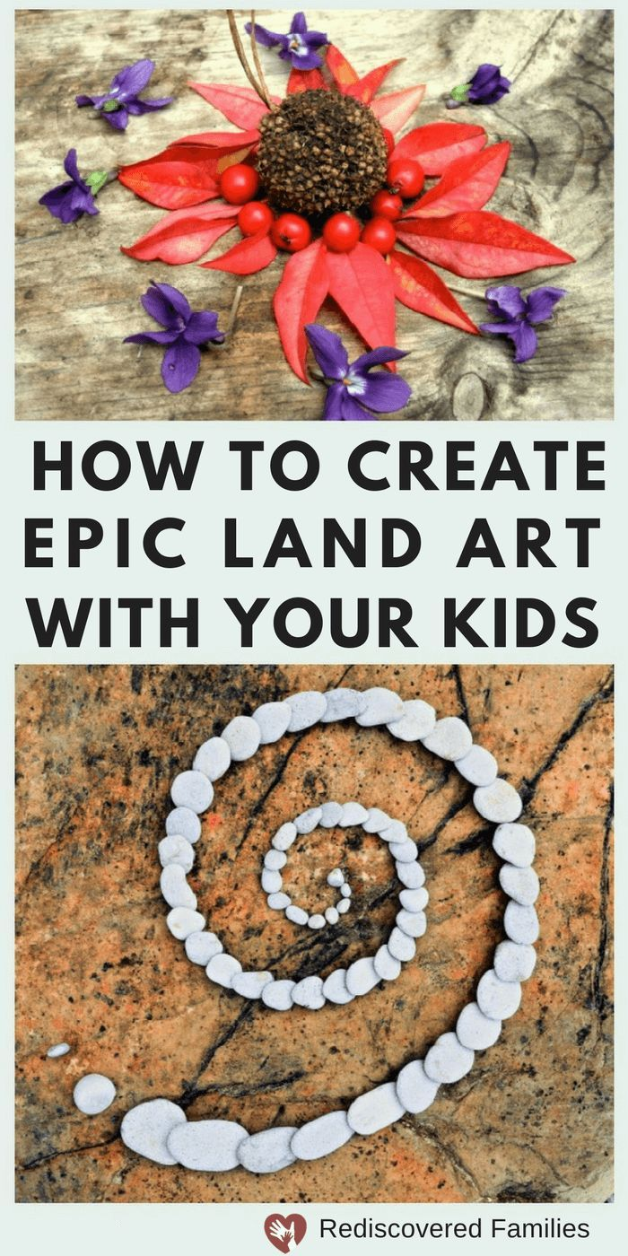 Are you looking for easy nature activities? Try making Land Art. It's a great way to get children outside and away from their screens. It's a great family project and you'll be amazed by your kids creativity and ideas.#familyfun #outdoor#unplug
