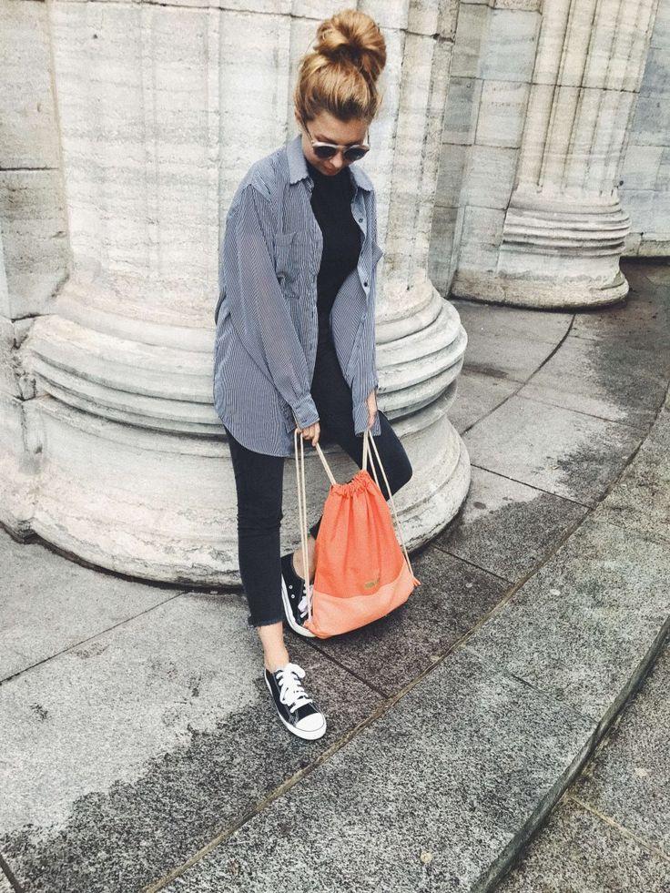 Fair Fashion OOTD mit wasserabweisendem Fair Fashion Rucksack von FERDInandNOAH , Fair Fashion Schuhen von Ethletic, nachhaltiger Sonnenbrille von Dick Moby Amsterdam. Mehr Slow Fashion gibt's auf dem modeblog sloris.de #slowdownandfashionup