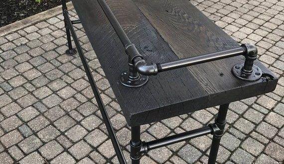 Table #récupération #Grange #bois #canapé #Bar …