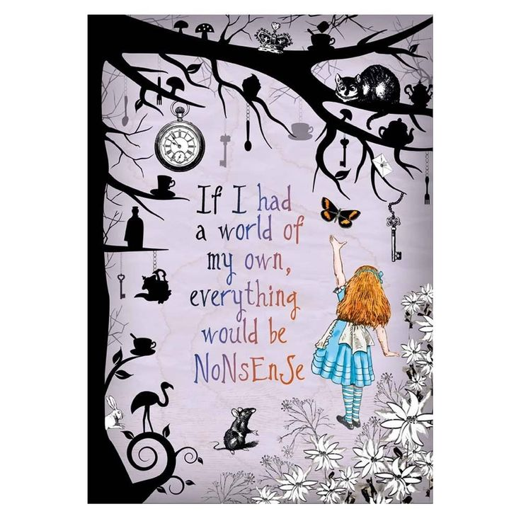 Alice in Wonderland Party / Mad Hatter Tea party A4 Art Print, Nonsense Quote