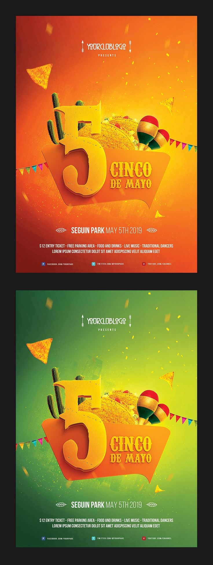 Cinco de Mayo Flyer Template on Behance