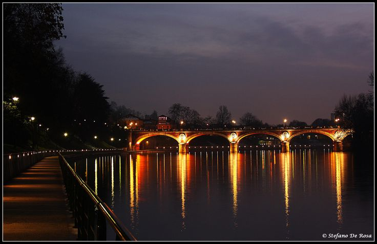 Ponte Isabella al tramonto