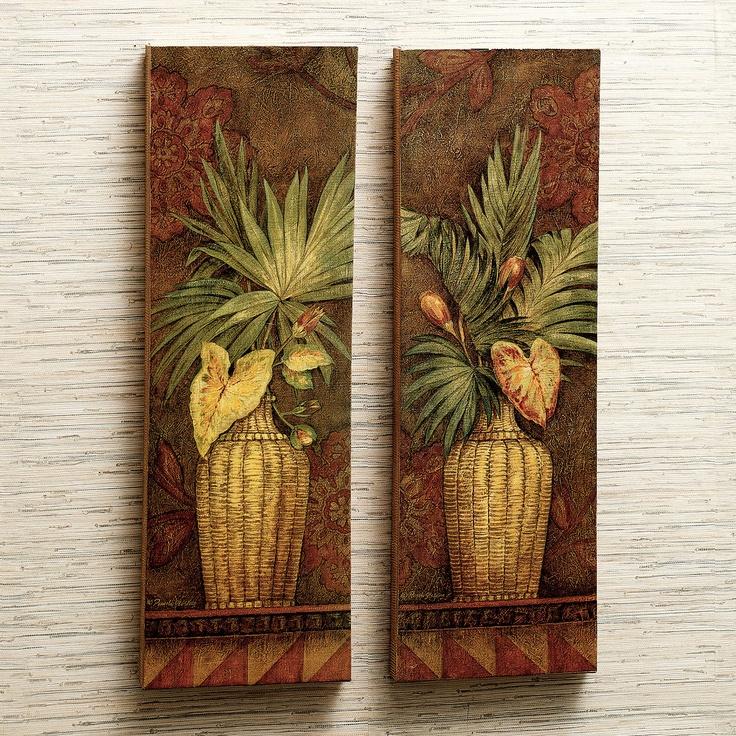 Cayo Largo Palm Canvas Art Set  http://www.touchofclass.com/cayo-largo-canvas-art-set-set-of-two/p/E477-001/