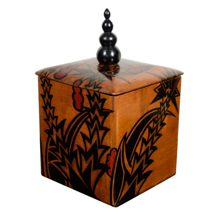35 Best Images About Art Deco And Inlaid Boxes On Pinterest English Covered Boxes And Tea Caddy