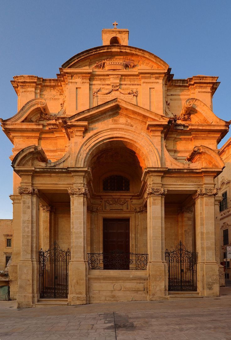 The church of St Catherine of Italy in Valletta in Malta
