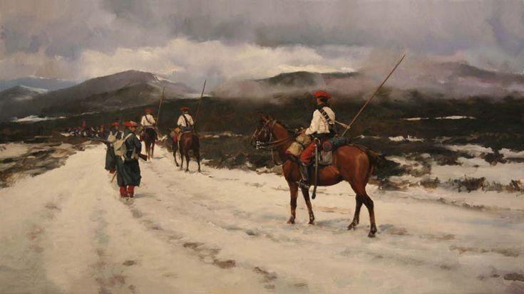 Húsares de Ontoria, obra de Augusto Ferrer-Dalmau