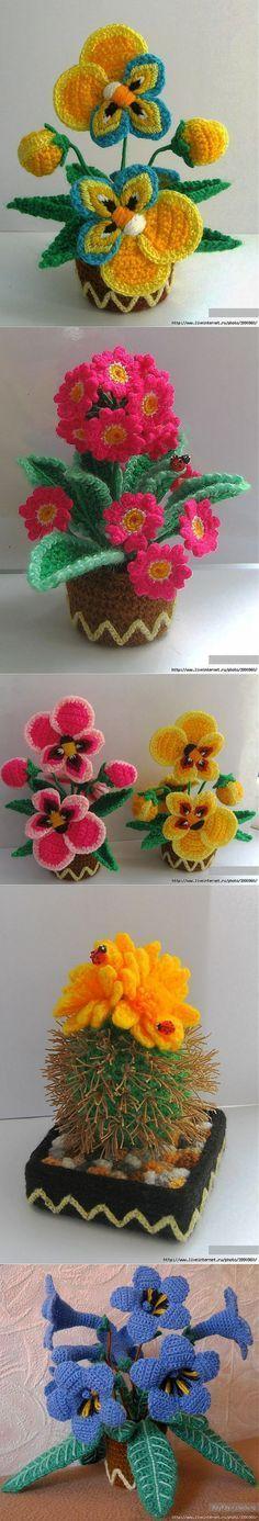 Flores de crochê crochê idéias.   Цветы вязание   Постила