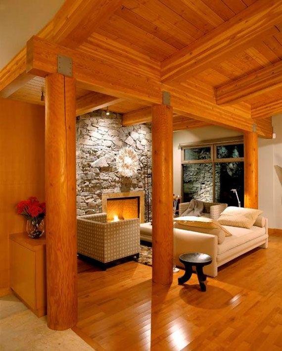 Log Home Kitchens Real Log Style: Best 20+ Modern Log Cabins Ideas On Pinterest