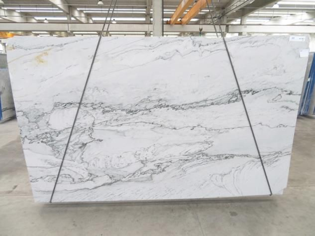 An Amazing Slab Of Opus White Honed Quartzite Seen On The