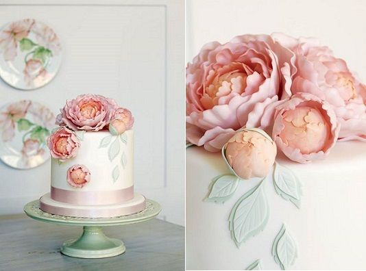 peony cake design by Peggy Porschen, image by Georgia Glynn Smith
