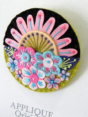 This woman does amazing things with felt.  Go look at her website and be amazed.