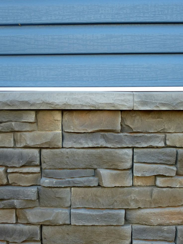 Kaycan Vinyl Siding Color : Davinci Cabot Blue / Fusion Stone Color : Great Lakes Raven. Available at HubCraft Timber Mart.