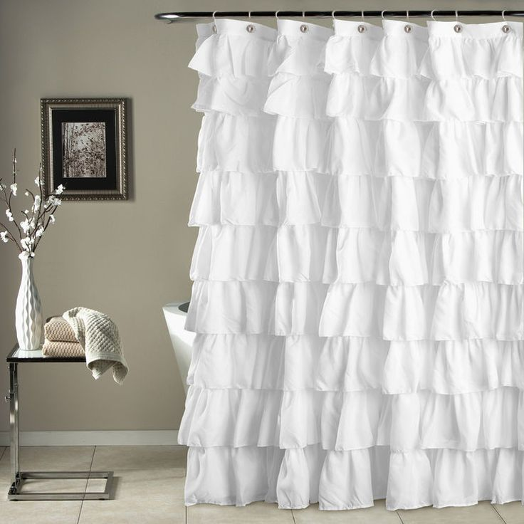 White Ruffle Show Curtain