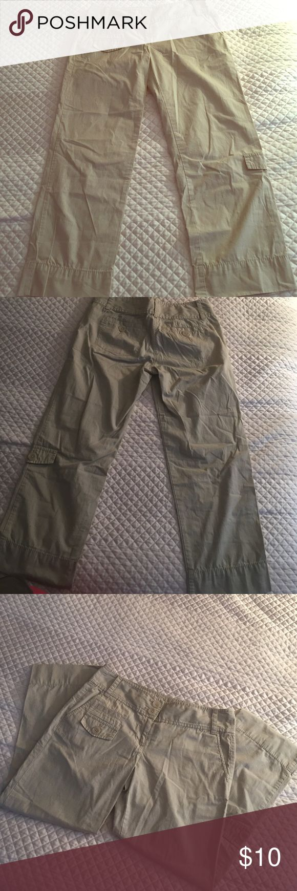 LOFT brand khaki Capri Lightweight khaki capri's from LOFT. Size 0. Hardly worn- in excellent condition. I got them for a safari in Africa and they were perfect for what I needed! LOFT Pants Capris