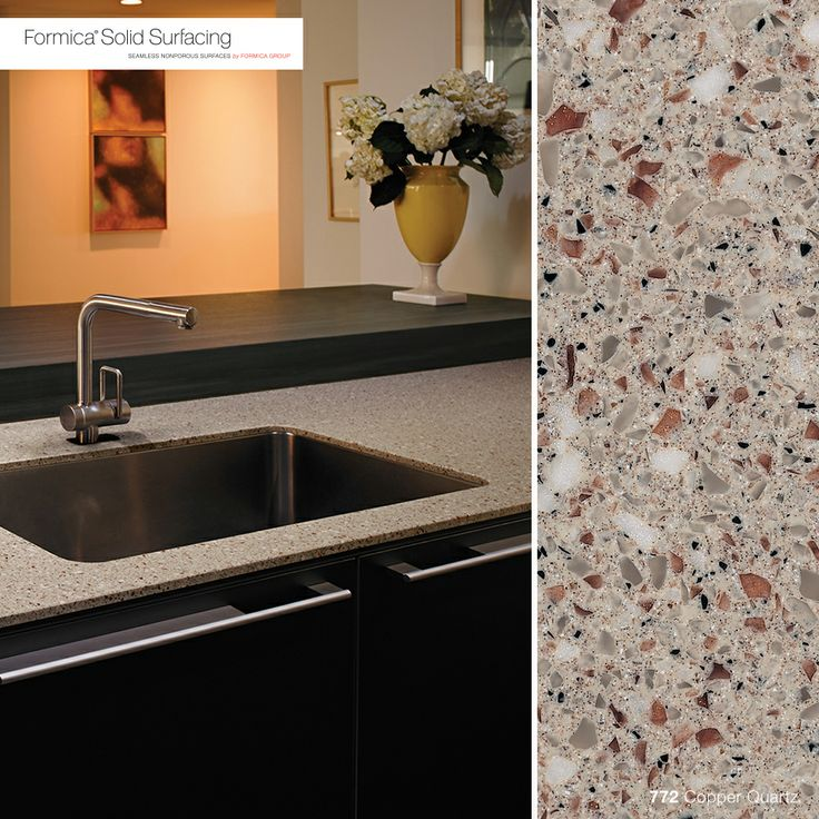 Formica Solid Surfacing Is A Beautiful, Clean Solution For Your Next  Kitchen Or Bathroom Countertop. Here Is 772 Copper Quartz