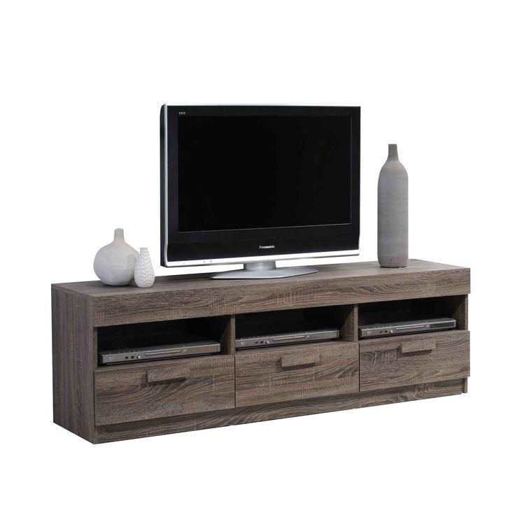 Acme Furniture Alvin Rustic Oak TV Stand
