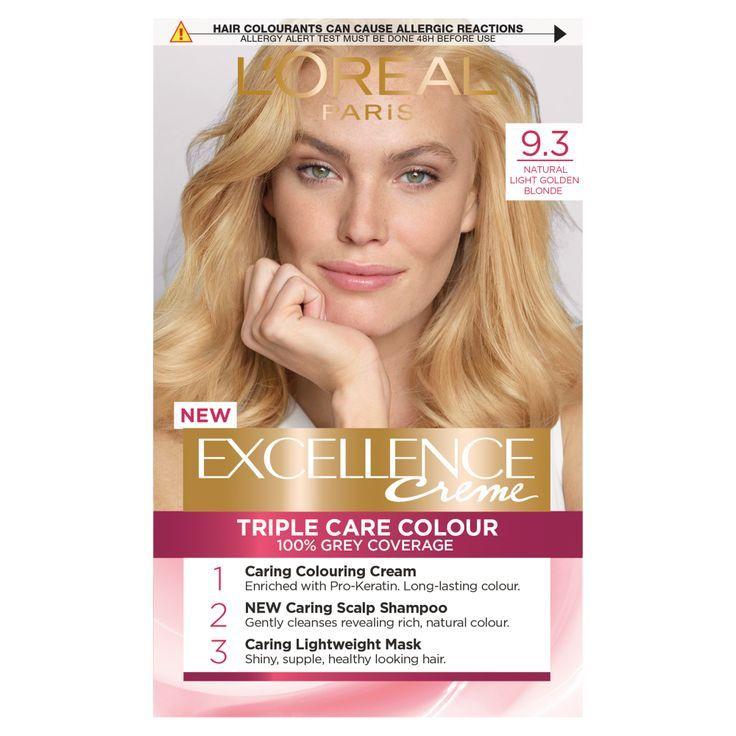 Loreal Paris Excellence Creme 9 3 Natural Light Golden Blonde Hair Dye Dyed Blonde Hair Golden Blonde Hair Dye Dyed Hair