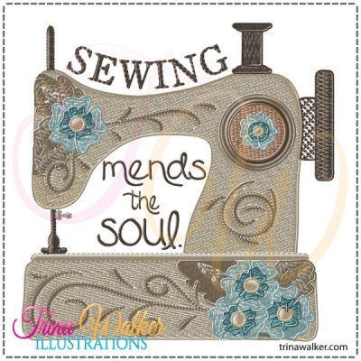 Mends the Soul 1 Machine Embroidery Design 4x4 http://trinawalker.com/shop/index.php?main_page=product_info&cPath=78_79&products_id=223