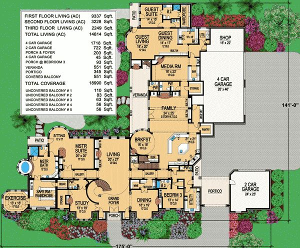 Plan 36163tx luxury living at its finest house plans for Mansion house plans with elevators