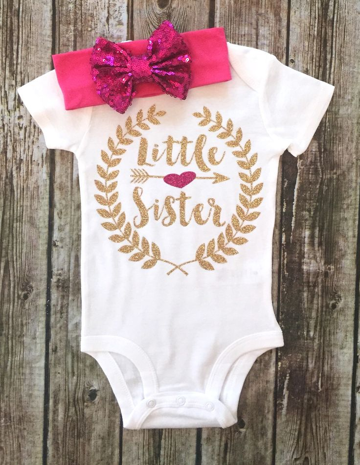 A personal favorite from my Etsy shop https://www.etsy.com/listing/469057917/baby-girl-clothes-big-sister-little