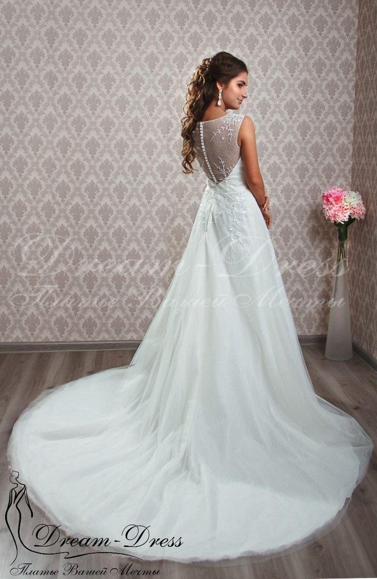 Holly / Свадебное платье выполнено из шелкового фатина. В наличии цвет айвори, размер 42-44-46, на спине молния. Изделие может быть выполнено в любом цвете и размере с любыми изменениями.