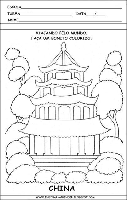 ATIVIDADES SOBRE A CASA   colorindodesenhos