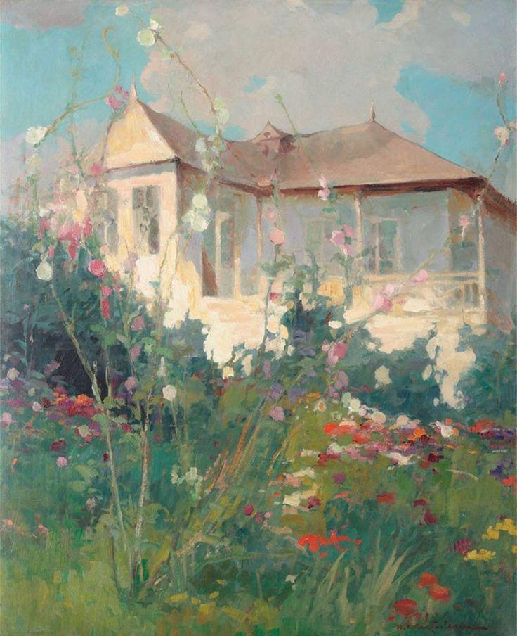 Grădină înflorită/ Bloomed garden - Honoriu Creţulescu / 1897 - 1979, Bucureşti  (ulei/oil)