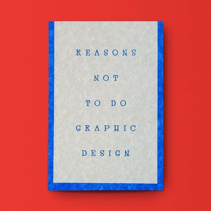"""Reasons Not To Do Graphic Design"", Draw Down, 2016"
