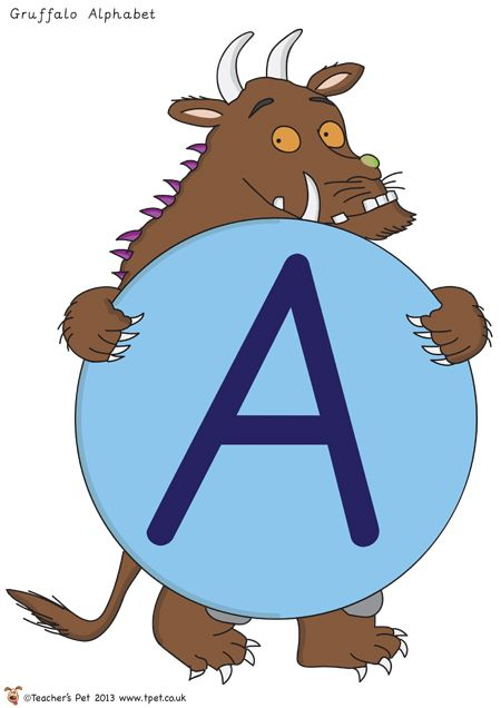 Alphabet on Gruffalo - CUTE!!!! FREE