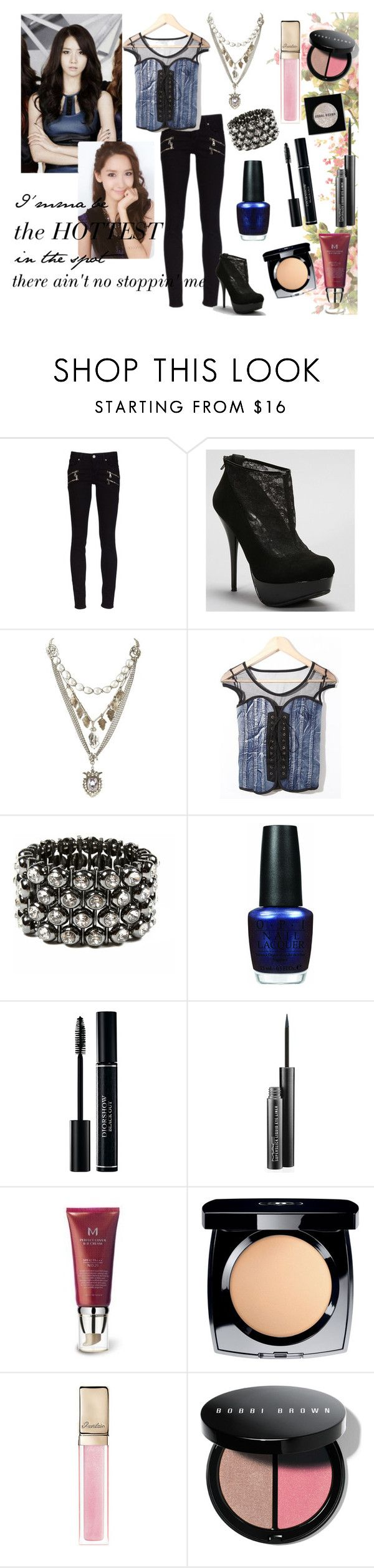 """Yoona ""The Boys"" MV Look - Athena (Fierce and Feminine)"" by migeeringler ❤ liked on Polyvore featuring Paige Denim, Love Heals, Amrita Singh, OPI, Christian Dior, MAC Cosmetics, Missha, Chanel, Guerlain and Bobbi Brown Cosmetics"