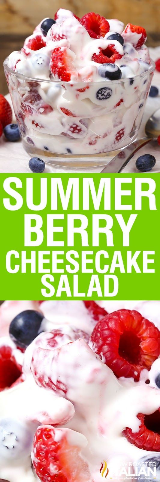 Summer Berry Cheesecake Salad (With Video)