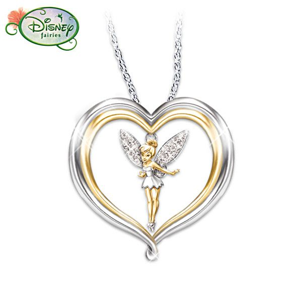 Tinker Bell Believe Pendant Necklace...
