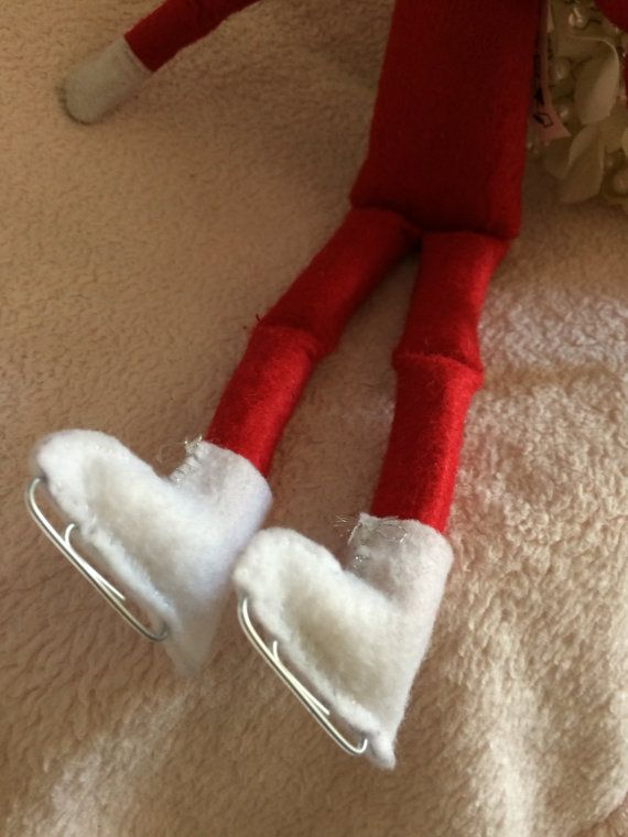 Elf on the Shelf Handmade Skates by CamsCreativeDesigns on Etsy
