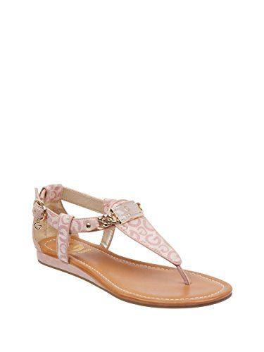 bafbac4824e7 G by GUESS Women s Jettson T-Strap Sandals G by GUESS
