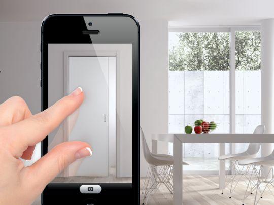 Testez (virtuellement) une porte coulissante chez vous avec l'application iPhone Eclisse - Le BlogDeco