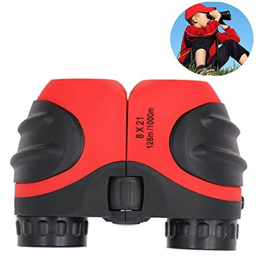 Birthday Gifts For Girls Boys TOG Gift Toys 813 Year Old 8x21 Compact Fogproof HD Binoculars Hiking Hunting Red TG04 Check Out This