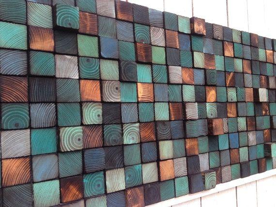 Wandkunst Holz aufgearbeiteten Holz Kunst von WallWooden auf Etsy
