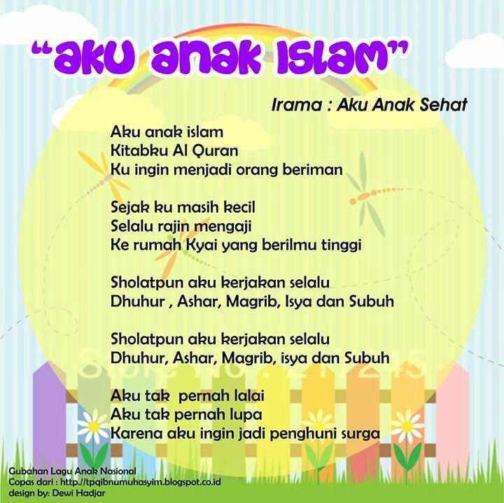 Aku Anak Islam (original song Aku Anak Sehat - theme song Posyandu)