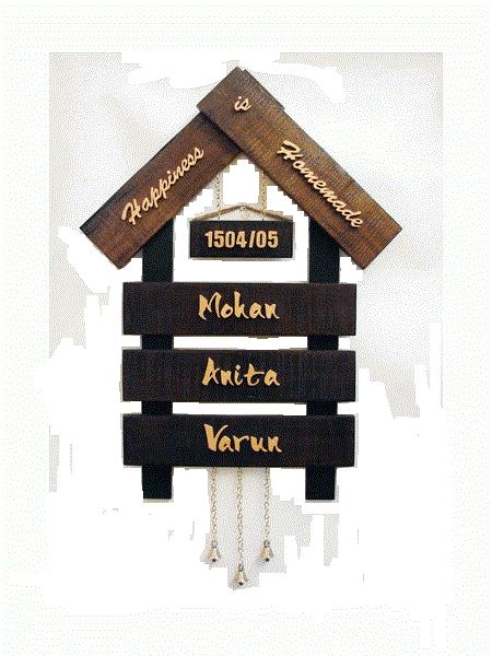 handmade name plates Terracotta Home Nameplate - Craftfurnish...