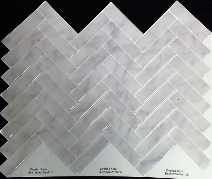 grey marble herringbone peel and stick it tile 11 x 925 inch value 4 pack - Abnehmbare Backsplash Lowes