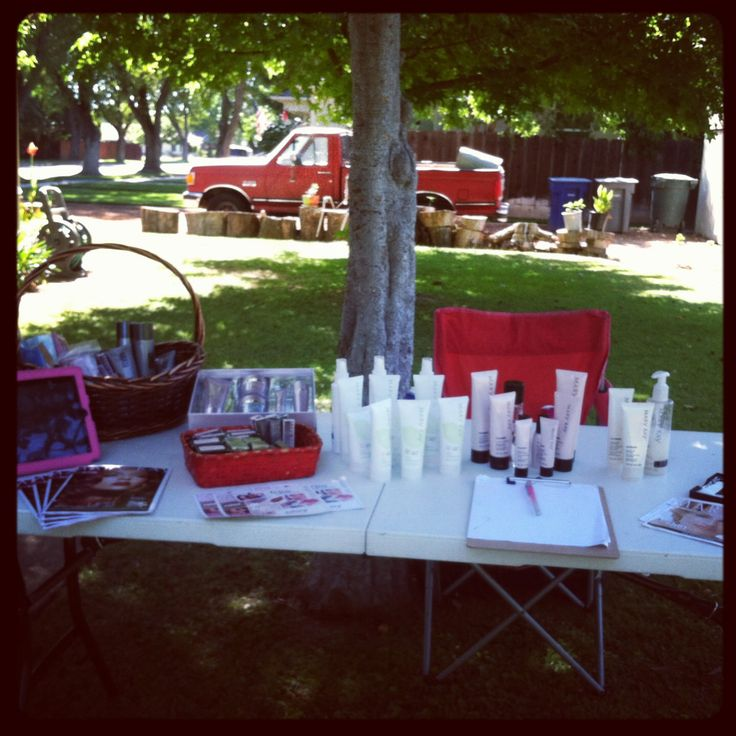 display tables and vendor events on pinterest