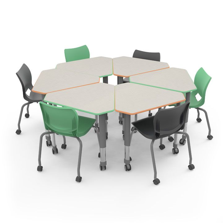 Single-Student Diamond Desk | Interchange Classroom Desks | Smith System