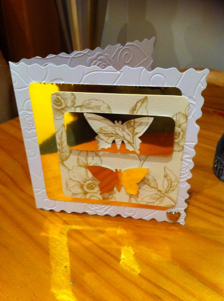 4x4 inch card made with scraps