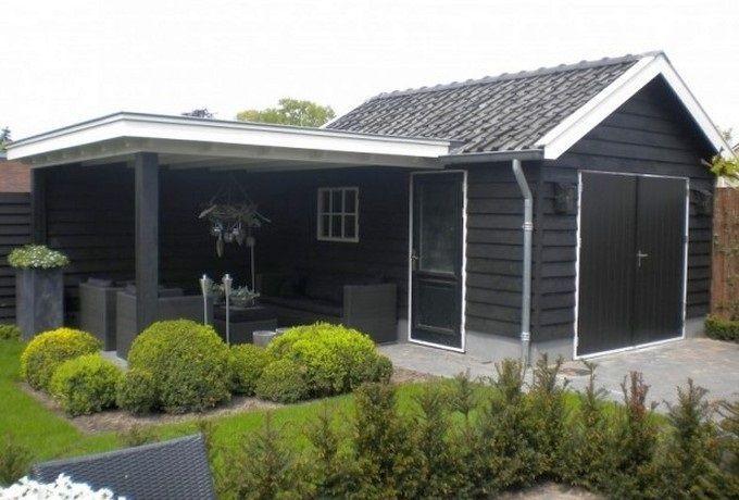 oud tuinhuis renoveren naar modern tuinhuis met overkapping - Google zoeken