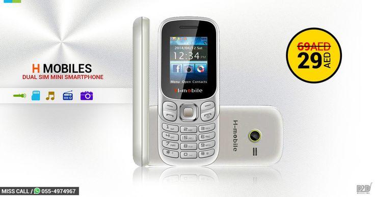 """--- To Place The Order Comment Your Number Below --- ل وضع النظام تعليق رقم هاتفك أدناه  Mini Smartphone Offer  Offer Price - 29AED - Original Price - 69AED H-Mobile Dual SIM Mini SmartPhone  FM Radio Bluetooth Music Player Camera SD Card  Torch Call us on 04-2557761 / Miss Call Or Whatsap to 055-4974967 to place order Now English Hindi Malayalam Customer Support  #uae #dubai #d2deal #Ajman #Sharjah #mydubai #mydxb #mysharjah #myabudhabi #myrak #myajman #myuae #fujairah #FF #DXB"" by…"