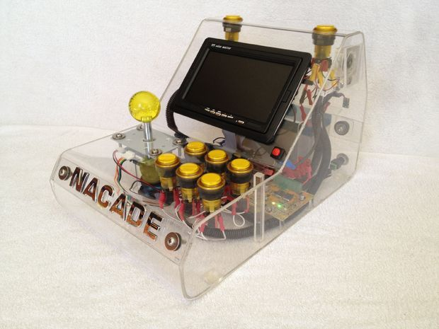 Picture of NaCade - The Naked Raspberry Pi Arcade Machine