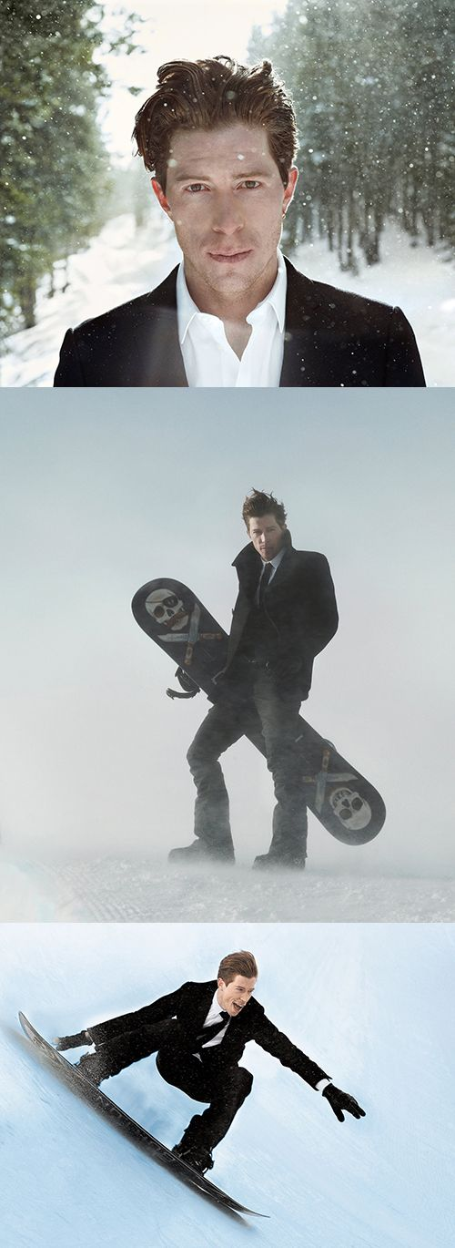 Shaun White by Finlay MacKay for The New York Times, January 2014 We LOVE snowboarding!!